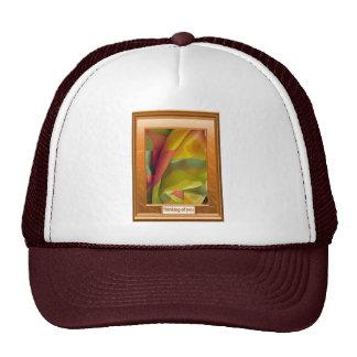 Folds of silk trucker hats