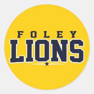Foley High School; Lions Classic Round Sticker