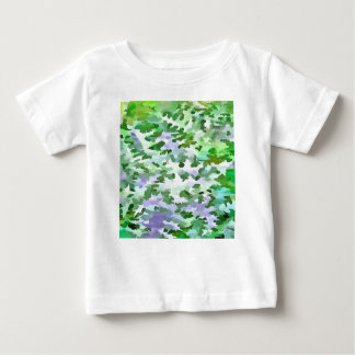 Foliage Abstract In Green and Mauve Baby T-Shirt