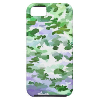 Foliage Abstract In Green and Mauve Case For The iPhone 5