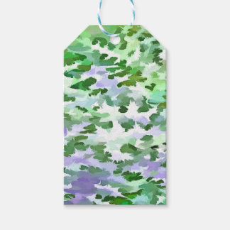 Foliage Abstract In Green and Mauve Gift Tags