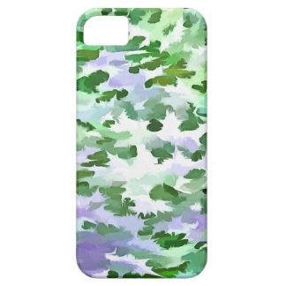 Foliage Abstract In Green and Mauve iPhone 5 Case