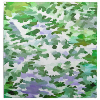 Foliage Abstract In Green and Mauve Napkin