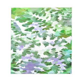 Foliage Abstract In Green and Mauve Notepad