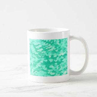 Foliage Abstract Pop Art Aqua Coffee Mug