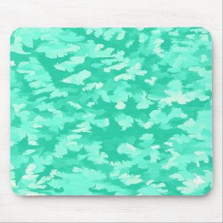Foliage Abstract Pop Art Aqua Mouse Pad