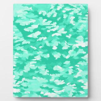 Foliage Abstract Pop Art Aqua Plaque