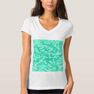 Foliage Abstract Pop Art Aqua T-Shirt