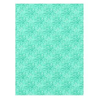 Foliage Abstract Pop Art Aqua Tablecloth