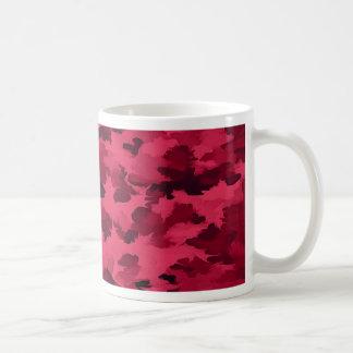 Foliage Abstract Pop Art Blush Red Coffee Mug