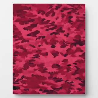 Foliage Abstract Pop Art Blush Red Plaque