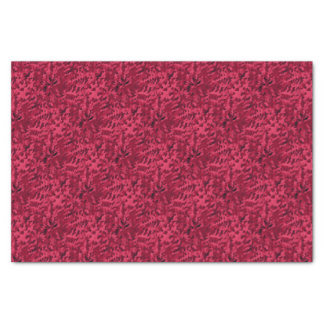Foliage Abstract Pop Art Blush Red Tissue Paper