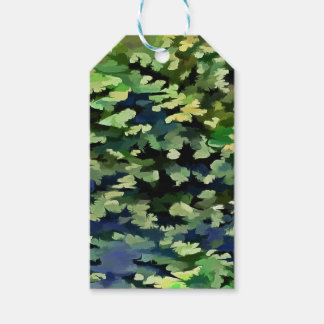 Foliage Abstract Pop Art In Green and Blue Gift Tags