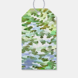 Foliage Abstract Pop Art In White Green and Powder Gift Tags