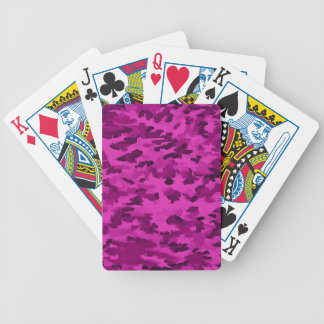 Foliage Abstract  Pop Art Violet Bicycle Playing Cards