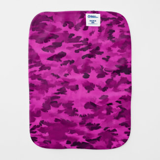Foliage Abstract  Pop Art Violet Burp Cloth