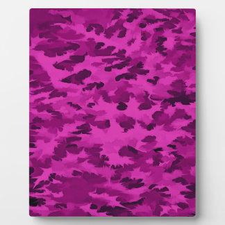 Foliage Abstract  Pop Art Violet Plaque