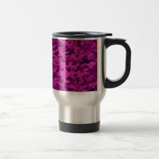 Foliage Abstract  Pop Art Violet Travel Mug