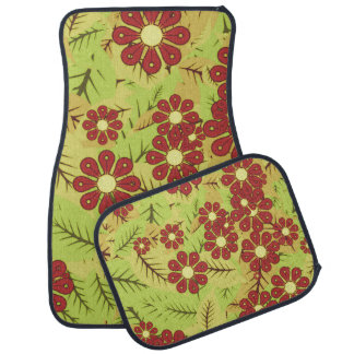 Foliage and flowers car mat