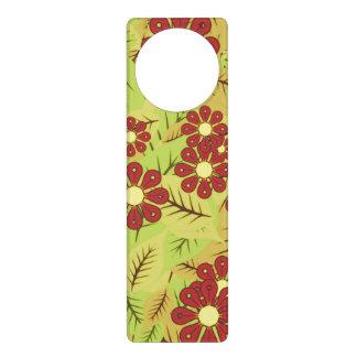 Foliage and flowers door hanger