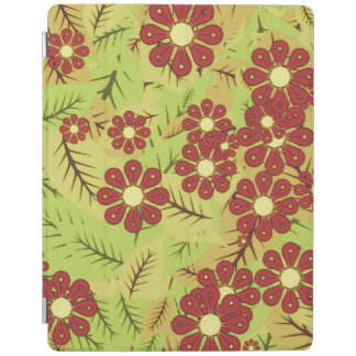 Foliage and flowers iPad cover