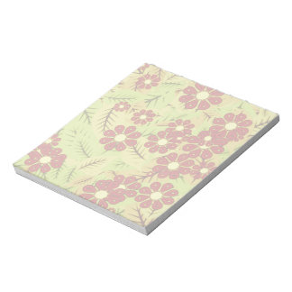 Foliage and flowers notepad
