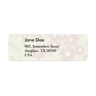 Foliage and flowers return address label