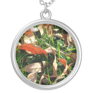 Foliage and Grass Personalized Necklace