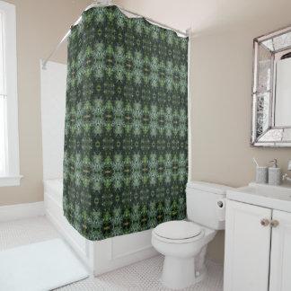 Foliage Dark to Silver Greens Shower Curtain