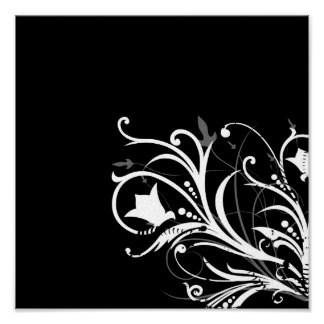 Foliage design print