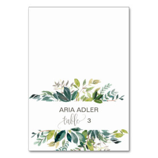 Foliage Escort Place Cards