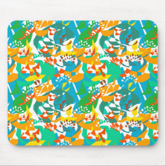 Foliage Leaves Fall Autumn Colorful Abstract Cool Mouse Pad