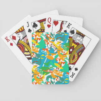 Foliage Leaves Fall Autumn Colorful Abstract Cool Playing Cards