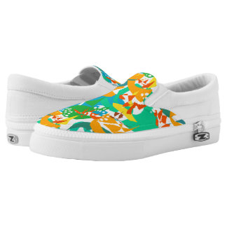 Foliage Leaves Fall Autumn Colorful Abstract Cool Slip-On Shoes