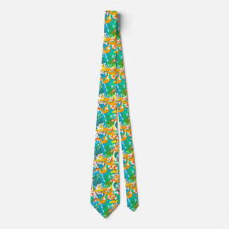Foliage Leaves Fall Autumn Colorful Abstract Cool Tie