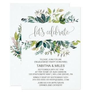Foliage Let's Celebrate Engagement Party Card