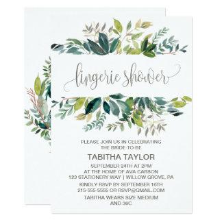 Foliage Lingerie Shower Card