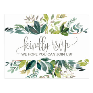 Foliage Menu Choice RSVP Postcard
