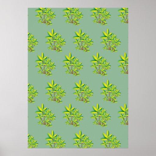 foliage mint poster