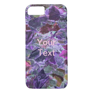 Foliage Pattern Purple and Pink Leaves iPhone 8/7 Case