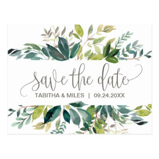 Foliage Save the Date Postcard