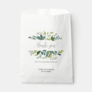 Foliage Thank You Favour Bag