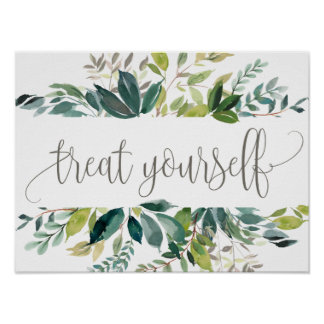 Foliage Treat Yourself Dessert Bar Poster
