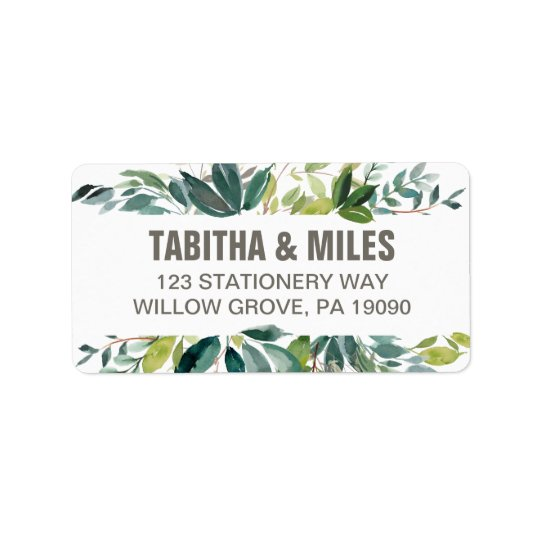 Foliage Wedding Label