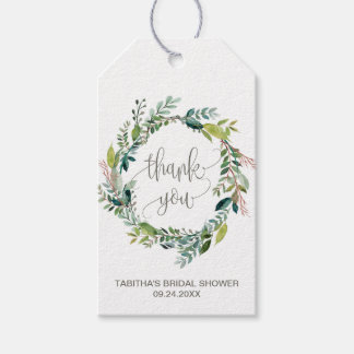 Foliage Wreath Thank You Gift Tags