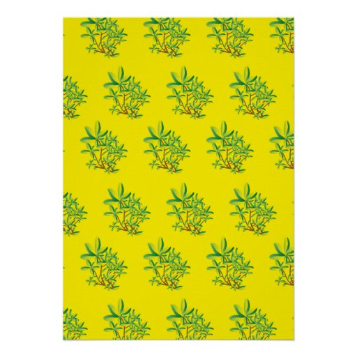 foliage yellow print