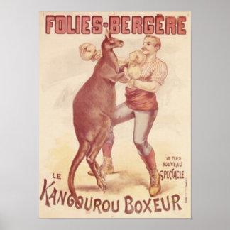Folies Bergere -- Boxing kangaroos Poster