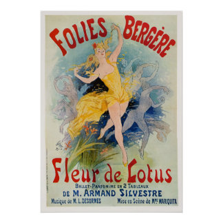 "Folies Bergère ""Fleur de Lotus"" Advertisement 1893 Poster"