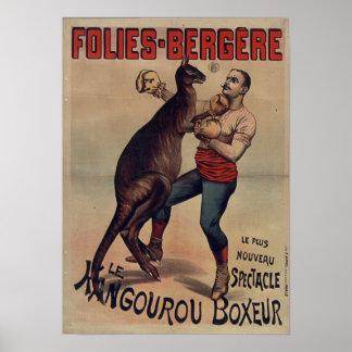 Folies-Bergère the Kangaroo Boxer Poster