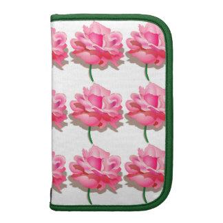 Folio Smartphone pink roses Organizer